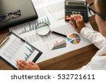 business analysis   calculator  ... | Shutterstock . vector #532721611