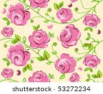 seamless wallpaper pattern with ... | Shutterstock .eps vector #53272234