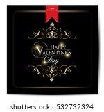 happy valentine's day hand... | Shutterstock .eps vector #532732324