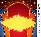 retro stage shining banner...   Shutterstock .eps vector #532733479