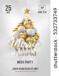 white christmas poster or flyer ... | Shutterstock .eps vector #532733749