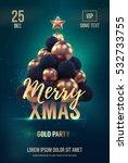 christmas poster or flyer... | Shutterstock .eps vector #532733755