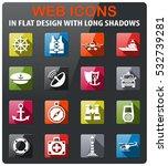 coastguard icons set in flat... | Shutterstock .eps vector #532739281