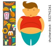obesity infographic template  ... | Shutterstock .eps vector #532741261