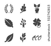 modern icons set silhouettes of ... | Shutterstock .eps vector #532742815