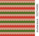 seamless knitted pattern with... | Shutterstock .eps vector #532744081