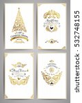 ornate holidays greeting cards. ... | Shutterstock .eps vector #532748155