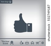 vector thumb up icon | Shutterstock .eps vector #532749187