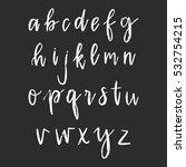 vector hand drawn alphabet. dry ...   Shutterstock .eps vector #532754215