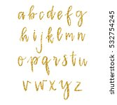hand drawn alphabet. dry... | Shutterstock . vector #532754245