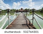 the bridge over the river to... | Shutterstock . vector #532764301
