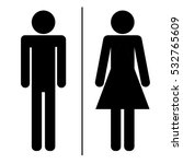 toilet sign  man and woman ... | Shutterstock .eps vector #532765609