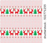 new year's christmas pattern... | Shutterstock .eps vector #532771255