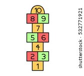 illustration with hopscotch... | Shutterstock .eps vector #532771921