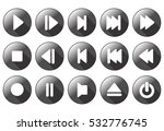 simple multimedia buttons  ... | Shutterstock .eps vector #532776745
