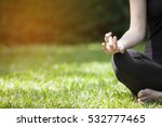 young woman doing yoga in... | Shutterstock . vector #532777465