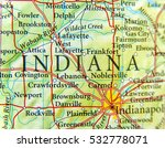 geographic map of indiana close | Shutterstock . vector #532778071