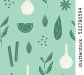 spices seamless pattern.... | Shutterstock . vector #532780594