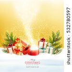 christmas holiday background... | Shutterstock .eps vector #532780597
