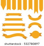 orange ribbon banner collection | Shutterstock .eps vector #532780897