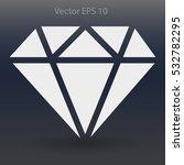 big diamond vector illustration   Shutterstock .eps vector #532782295