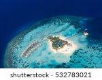 maldives beach aerial view  ari ... | Shutterstock . vector #532783021