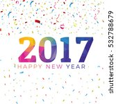colorful 2017 poster design.... | Shutterstock .eps vector #532788679