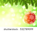 light green blurred bokeh... | Shutterstock .eps vector #532789099