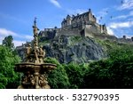 Edinburgh Castle During Summer...