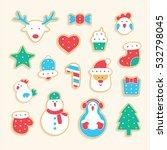 gingerbread set | Shutterstock .eps vector #532798045