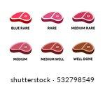 steak doneness vector... | Shutterstock .eps vector #532798549