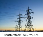 High Voltage Power Tower And...