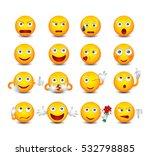 funny emoticons set. emoticons...   Shutterstock .eps vector #532798885