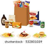 vector illustration of various... | Shutterstock .eps vector #532801039