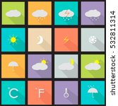 weather icons.forecast | Shutterstock .eps vector #532811314