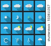 set of weather icons.forecast | Shutterstock .eps vector #532811317