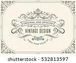 horizontal vintage ornate... | Shutterstock .eps vector #532813597