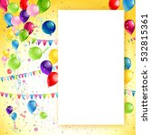 holiday birthday frame | Shutterstock .eps vector #532815361