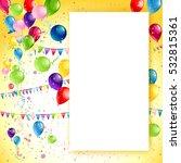 holiday birthday frame | Shutterstock .eps vector #532815361