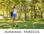 girl walking going with her... | Shutterstock . vector #532821121