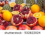 Organic Pomegranates In The...