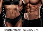 beautiful couple in the fitness ... | Shutterstock . vector #532827271
