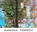 brick building exterior wall...   Shutterstock . vector #532830517