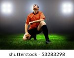 happiness football player after ... | Shutterstock . vector #53283298