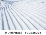 snow lines made from a snow... | Shutterstock . vector #532835395