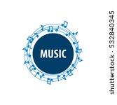 music vector logo | Shutterstock .eps vector #532840345