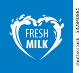milk logo  vector | Shutterstock .eps vector #532840885