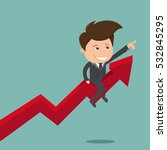 businessman sitting on the... | Shutterstock .eps vector #532845295