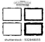 grunge frame texture set  ... | Shutterstock .eps vector #532848055