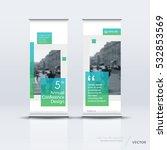 blue green roll up banner... | Shutterstock .eps vector #532853569